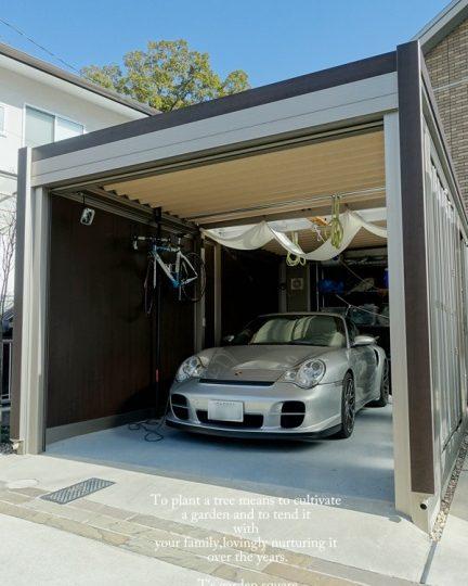 ポルシェの似合うガレージ