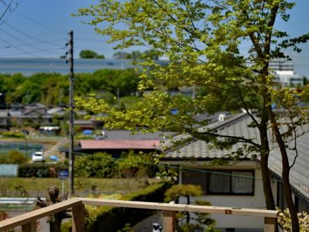 ウッドデッキから眺める景色