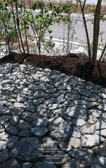 石貼りテラス