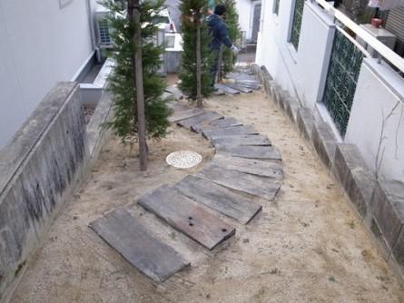 枕木階段完成