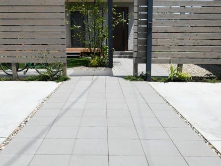 駐車場アプローチコンクリート平板