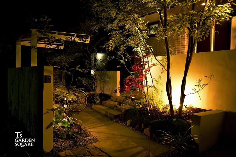 アプローチ 夜景 へーベルハウス