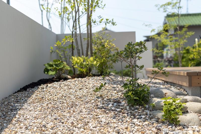 デッキの庭