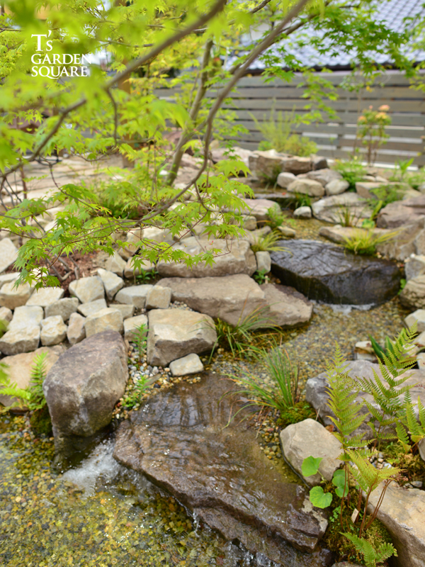 川の作り方 雑木林