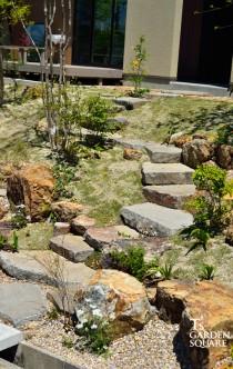 自然石階段 諏訪鉄平