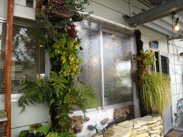 壁面緑化ウォーターカーテン