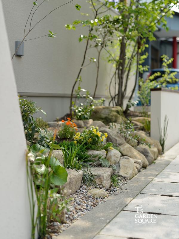 雑木の花壇