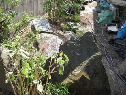 石 植栽完了